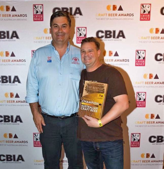 CBIA David Cryer of Cryermalt & Brendan Varis of Feral Brewing Company