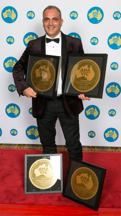 Bobby Zagame and his clutch of awards for 2016