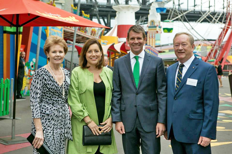 Mike Baird and guests of the Lansdowne Club's annual St Patrick's day lunch.