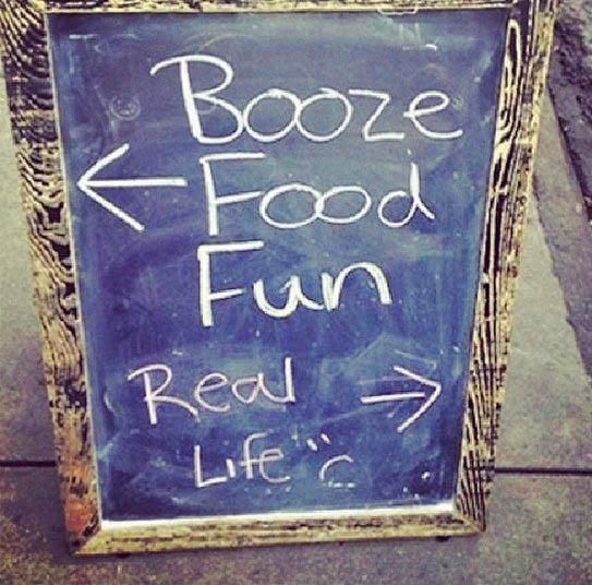 Booze food fun