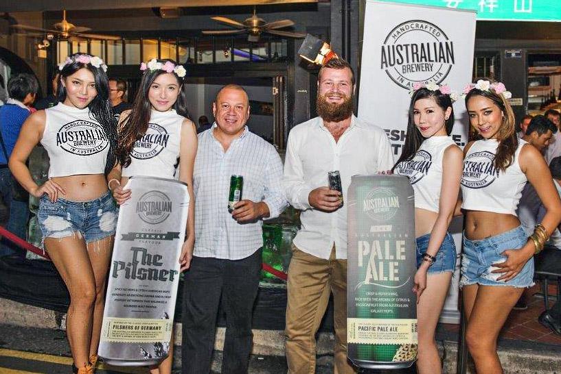 Marcello Colosimo and David Ward at Gem Bar, Singapore