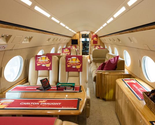Carlton Draught jet_interior_crp